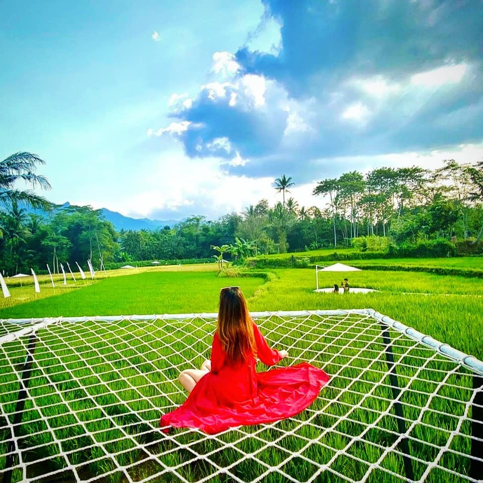 Svargabumi spot foto kasur jaring wisata jogja terbaru 2021