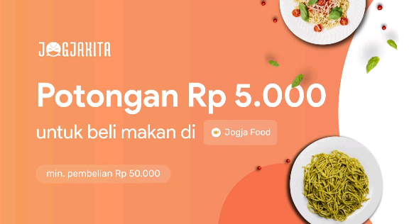 Voucher Jogjakita Potongan Rp.5.000 Untuk beli Makan di Jogjafood